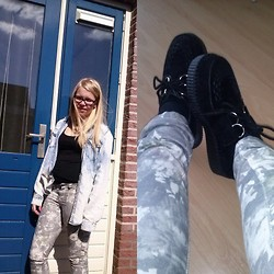 Joanne Fairytale - H&M Black T Shirt, H&M Denim Blouse, Vero Moda Pants, New Look Shoes - SUNSHINE :D