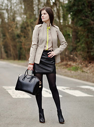 French Diary D - Givenchy Antigona Bag, Maison Martin Margiela Jacket, Maison Martin Margiela Boots - Neutrals and neon
