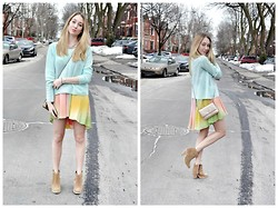 Jessica C. - Joe Fresh Sweater, Chanel Bag, Asos Booties - Pastel