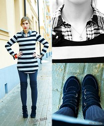 Magda S. // Life by Mada - Apart Necklace, Sneakers - Trellis and stripes