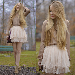 TIPHAINE MARIE - Zara Blouse, Jeffrey Campbell Booties, Sheinside Skirt - LEARN HOW TO DANCE IN THE RAIN