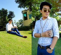 Charles G. - Ray Ban Aviator, Divisoria Button Down, Uniqlo Blue Pants, Sm Accessories Bags And Jewelries - Easter on South East!
