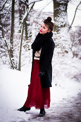 Jane S. - H&M Scarf, Otto Coat, Primark Jumper, Cheap Monday Belt, Romwe Skirt, Asos Boots - Just remember