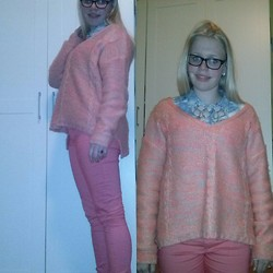 Joanne Fairytale - H&M Denim Blouse, H&M Statement Necklace, H&M Sweater, Primark Pants - Spring is coming!