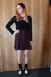 Lauren S. - Forever 21 Sweater, Urban Outfitters Dress, Tuk Creepers - Hurting