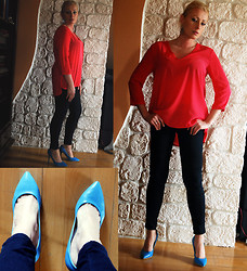 Magda Awma - H&M Blouse, Zara Pants - A LITTLE BIT OF SKY