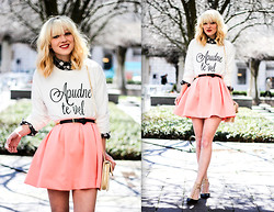 Olivia Taylor - Nasty Gal Skirt, Topshop Jumper - Pretty in Pink