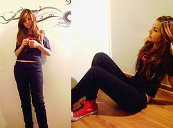 Gabriela Zamora - Converse Red Shoes - Super Girl
