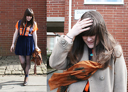 Ashley F - Whistles Blouse, Vintage Coat, Americal Apparel Skirt - Throwing Caution to the Wind