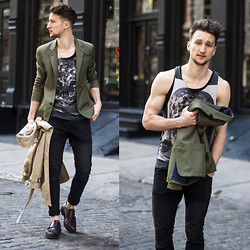 Marcel Floruss - H&M Jeans, All Saints Tank, Marc By Jacobs Blazer, All Saints Monk Straps - Hidden Skull