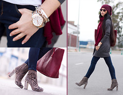 WOWS . - Rebeca Sanver Embroidered Suede Ankle Boots, Guess? Watch (Model U0075g2 ) - WORLDWIDE Giveaway!!!  - BURGUNDY RAY-BAN WAYFARER
