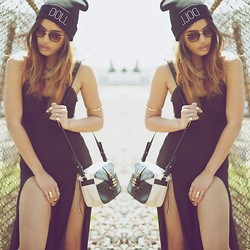 Jill Wallace - 10th Tribe Doll Beanie, Linea Pelle Hayden Crossbody Bag, Love Dress - D O L L // R O L L // C A L L