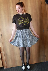 Lauren S. - Urban Outfitters Tee, Urban Outfitters Skirt (Dress), Creepers - Sweet Emotion