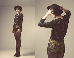 Emilie Martin - Vintage Holt Renfrew Sequin Blouse - She Dreamt