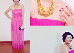 Nicole . - Forever 21 Accessories, Bellabianca Gown, Primadonna Pumps, Landmark Clutch - El Ultimo Acto