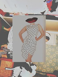 Miss Harriet Jane . - Friend Oh So Kindly Gave It To Me Polka Dot 50s Dress, Australis Red Lipstick - Holy Mother of God