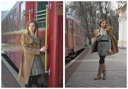 даша лысюк - Mango Coat, Alextom Boots - Train into April