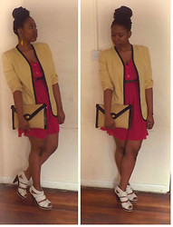 Elsh Gorer - Top Earings, Zara Blazer, Diy Dress - Summer Today...Gone Tomorrow