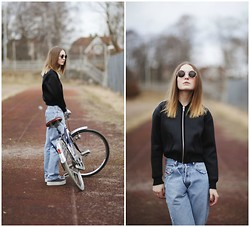 Bea Hansson - Bikbok.Com Jacket, Vintage Pants, Jeffrey Campbell Shoes, H&M Glasses - LONG WAY