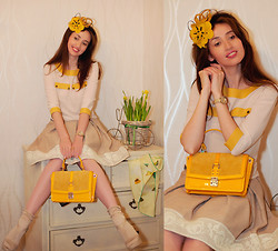 Tanya Petrova - Fossil Watches, Laksmi Design Blouse, Laksmi Design Skirt, Alexandra Maistrenko Alice Band - SUNSHINE YELLOW