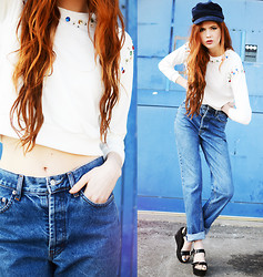 Ebba Zingmark - Sheinside Top, 2hand Jeans, Shoes, 2hand Cap - IT'S ABOUT TIME