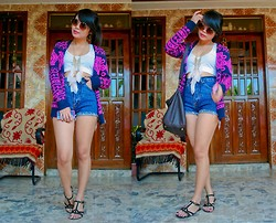 Katrina C. - Forever 21 Cardigan, Diy Top, Giordano Denim Cut Offs, Pill Footwear Flats, H&M Necklace, Nava Sunglasses - Do you think about me when the crowd is gone?