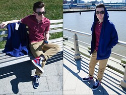 Ryan Charchian - Burberry Polo, Flint And Tinder Hoodie, American Eagle Khakis, Vans Sneakers, Ray Ban Sunglasses - Spring Fling