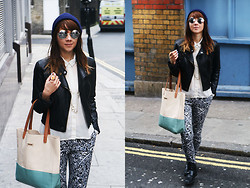 Dagmara R - Mango Trousers, Topshop Jacket - Can't think of any cool song lyrics as my title