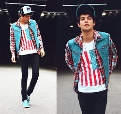 Vini Uehara - American Apparel T Shirt, Pony, Merrin & Gussy The Fallen Empire Pendant - We can't stay forever young