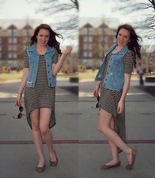 Meg Davis - Forever 21 Dress, Thrifted Vest, Urban Outfitters Flats - Welcome Spring