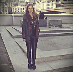 Roxii Hoare-Smith - River Island Coat, American Apparel Disco Pants, Underground Creepers, Charity Shop Shirt - London Town
