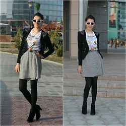 Aigyz Rebelle - Glasses Cat Eye, Jacket Black, Short+Skirt Noname - Impossible Love?