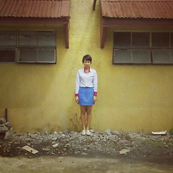 Christelle Mae Dacalus - Wagw Longsleeves, Just G. Skirt, Keds Sneakers - Stand Still.. *Hello lovely lookbookers! Im back*