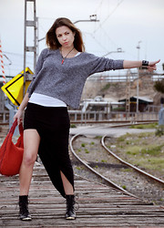 Kseniya B - Sweater, Love Skirt, Choies Boots - On The Way to Happiness - 2