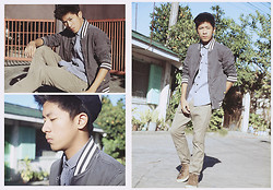 Ervin David - Bench Checkered Polo Shirt, Ego Jeans Swag Jacket, Bench Chino Brown Skinny, Pony Brown Highcut Sneakers, Penshoppe Black Cap - Please Don't Fade