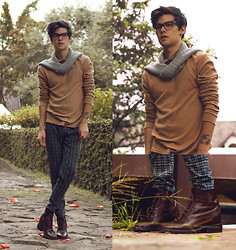 Vini Uehara - American Apparel, Guidomaggi Milano Boots - Fix You