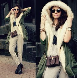 Anna Brain - Udobuy Parka, Michael Kors Bag, Favoritini Bracelet, Firmoo Sunglasses - SUCH A DIFFERENT CHIC