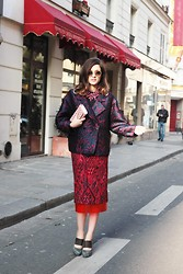 Eleonora Carisi - Frankie Morello Total Look, Tory Burch Bag - Dress On