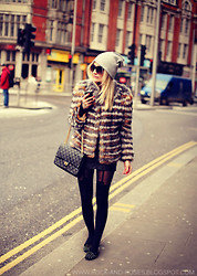 Silvia P. - Elie Saab Fur, Chanel Purse, River Island Cap, River Island Glasses, Topshop Tights, Topshop Shoes - Lost in translation