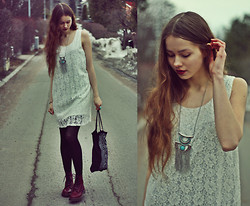 Elina I - Dr. Martens Boots, Monki Dress, Primark Necklace - Do you know where the wild things go