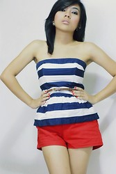 Loraine Villanueva - Forever 21 Stripes Peplum, Forever 21 Red Red Shorts - I believe that we are who we choose to be