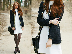 Martyna Janus - Www.Axparis.Co.Uk, Romwe Jacket - Little white dress