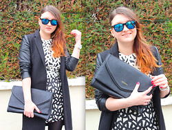 Dasha Romanova - Zara Coat - Bicolor dress!!