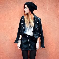 Lua P - Vintage Jacket, Tee, Asos Hat - Nothing Uncommon