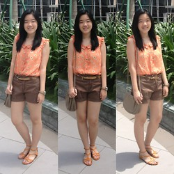 Bernice Angelica Sy - From Hongkong Top, Parfois Watch, Thrifted Shorts, H&M Bag, Cmg Sandals - Pocketful of Sunshine