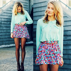 Petra Karlsson - Shirt, Skirt - Peter Pan Collar Mint Green Shirt