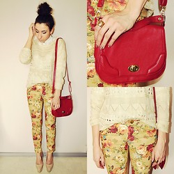Pam S - Sheinside Jumper, Goodnightmacaroon Pants - Red bag