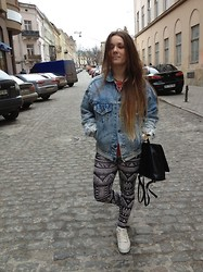 Anna Pugach - Levi's® Jacket, Next Bag, Zara Leggins - Swag)))))))))))