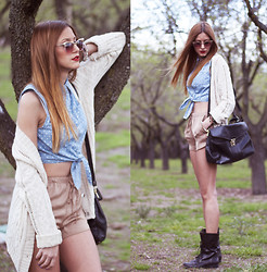 Andrea Gomez - Forever 21 Top, Zara Shorts - DENIM + POLKA DOTS
