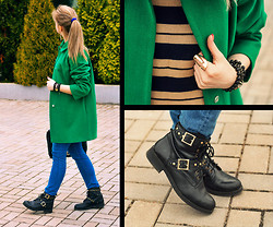Anastasia Roshchenya - Asos Coat, Mango Sweater, Asos Boots - Turn Around